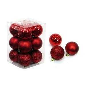 Zestaw 12 bombek w czerwonym kolorze Unimasa Navidad