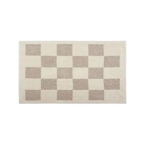 Dywan bawełniany Check 80x150 cm, kremowy