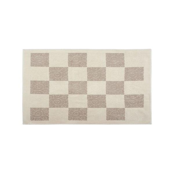 Dywan bawełniany Check 80x300 cm, kremowy
