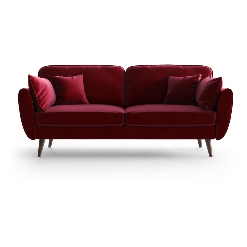 Czerwona aksamitna sofa My Pop Design Auteuil