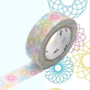 Taśma dekoracyjna washi Spirograph