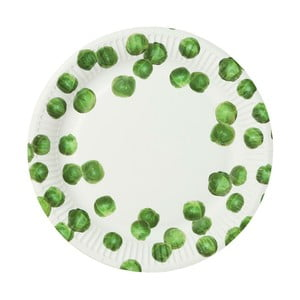Zestaw 8 talerzy papierowych Talking Tables Sprout