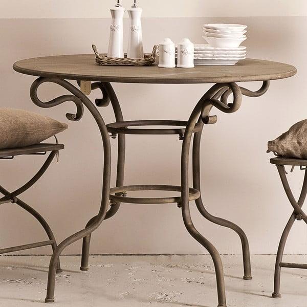 Metalowy stolik Lodge, brązowy