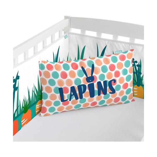 Ochraniacz do łóżeczka Lapins, 70x70x70 cm