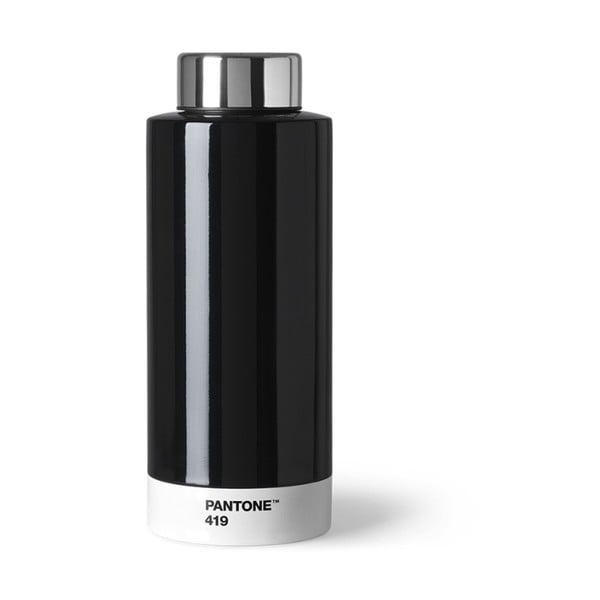 Czarna butelka ze stali nierdzewnej Pantone, 630ml