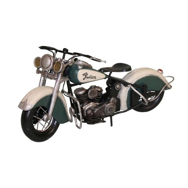Motocykl dekoracyjny Antic Line Motorcycle Green