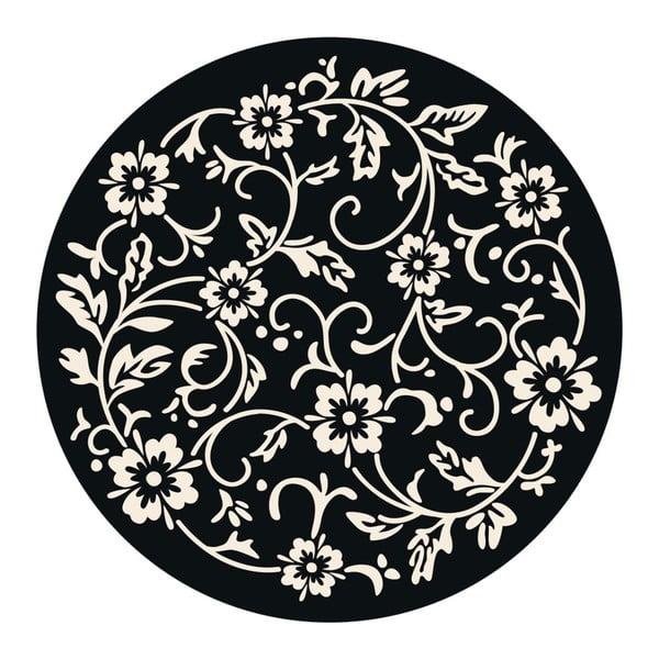 Naklejki Flower mandala, black/white, 4 szt