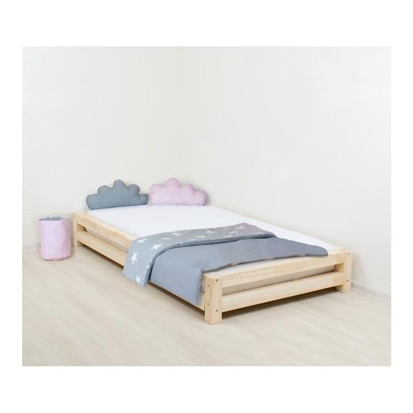 Łóżko dziecięce z drewna świerkowego Benlemi JAPA Natural, 80x160 cm