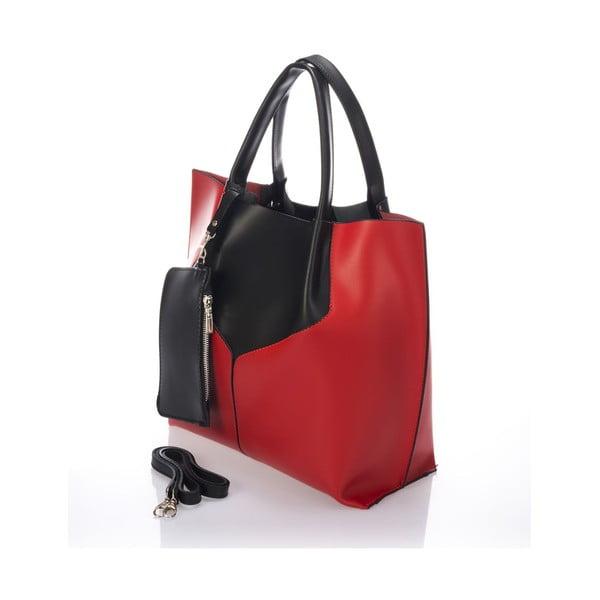 Skórzana torebka Italia 86,czerwona