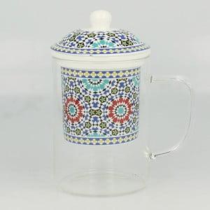 Szklany kubek z sitkiem Maroko C, 450 ml