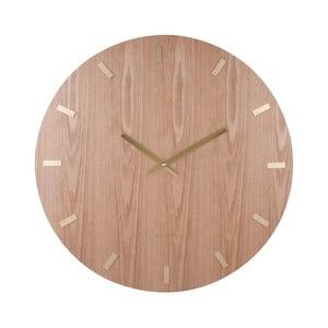 Zegar z jesionowej okleiny Karlsson, Ø 70 cm