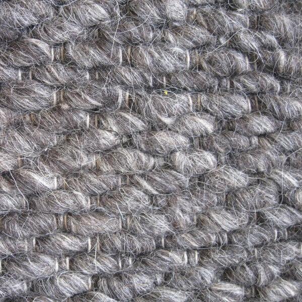 Wełniany dywan Nordic Anthracit, 140x200 cm