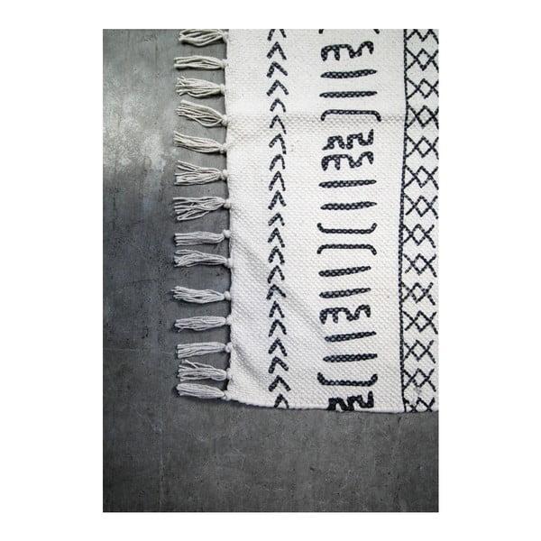 Czarno-biały bawełniany dywan HSM collection Colorful Living Manio, 150x210 cm