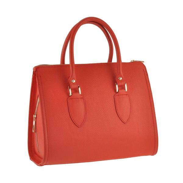 Skórzana torebka Grafias, czerwona