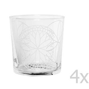 Zestaw 4 szklanek Rosace, 370 ml