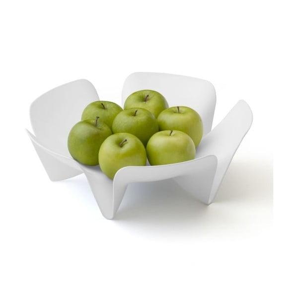 Miska na owoce QUALY Flower Fruit Tray, biała