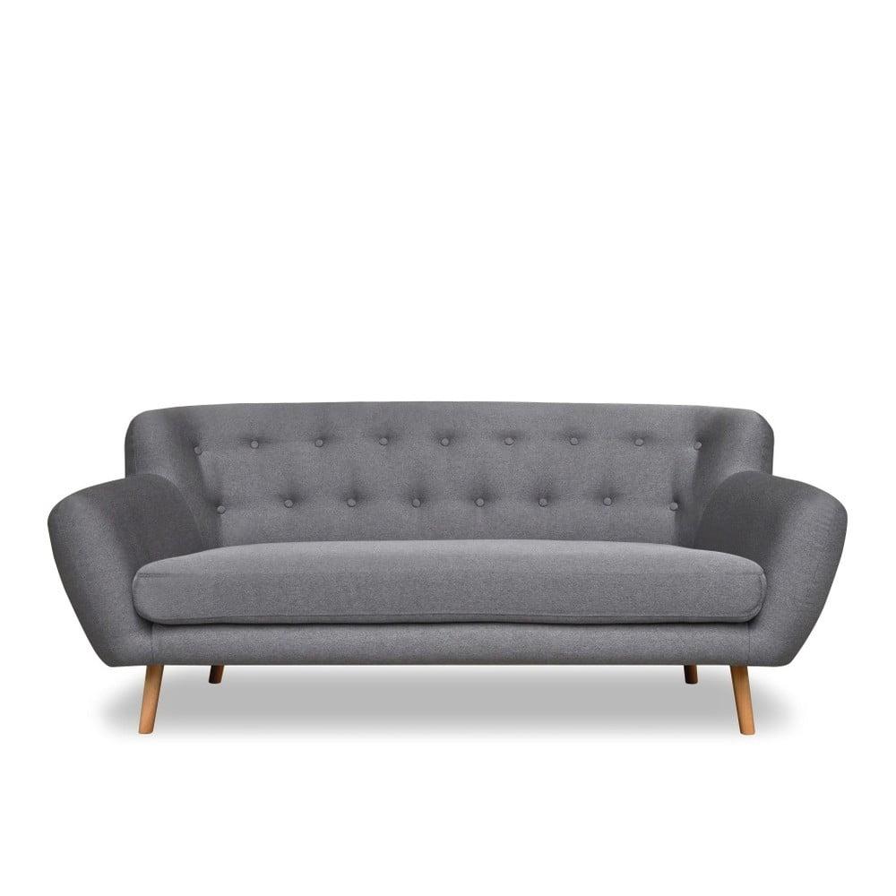 Szara sofa 3-osobowa Cosmopolitan design London