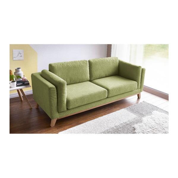 Jasnozielona sofa 3-osobowa Bobochic Paris Enjoy