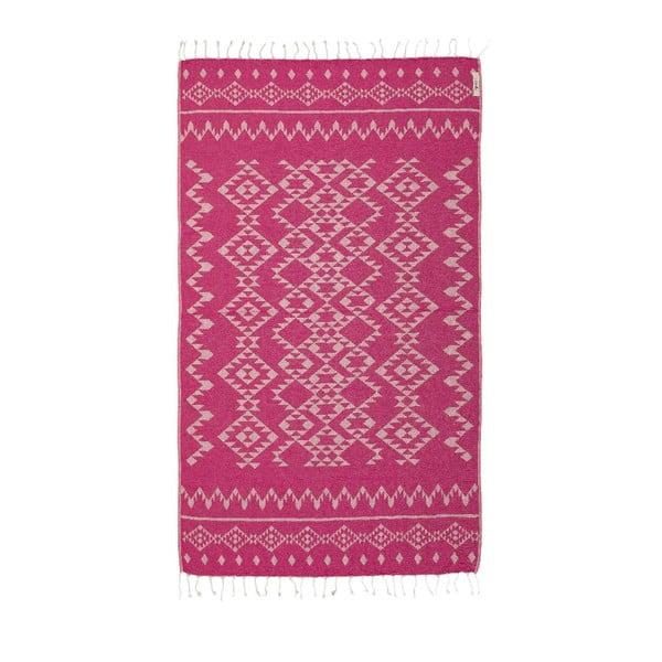Ręcznik hammam Carpet Fuchsia, 100x180 cm