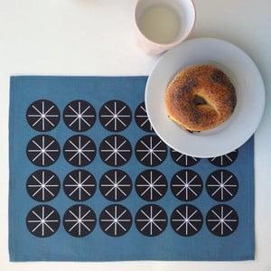 Zestaw 4 mat stołowych Stars Blue, 45x35 cm