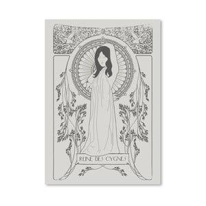 Plakat Reine Des Cygnes - Grey, 30x42 cm