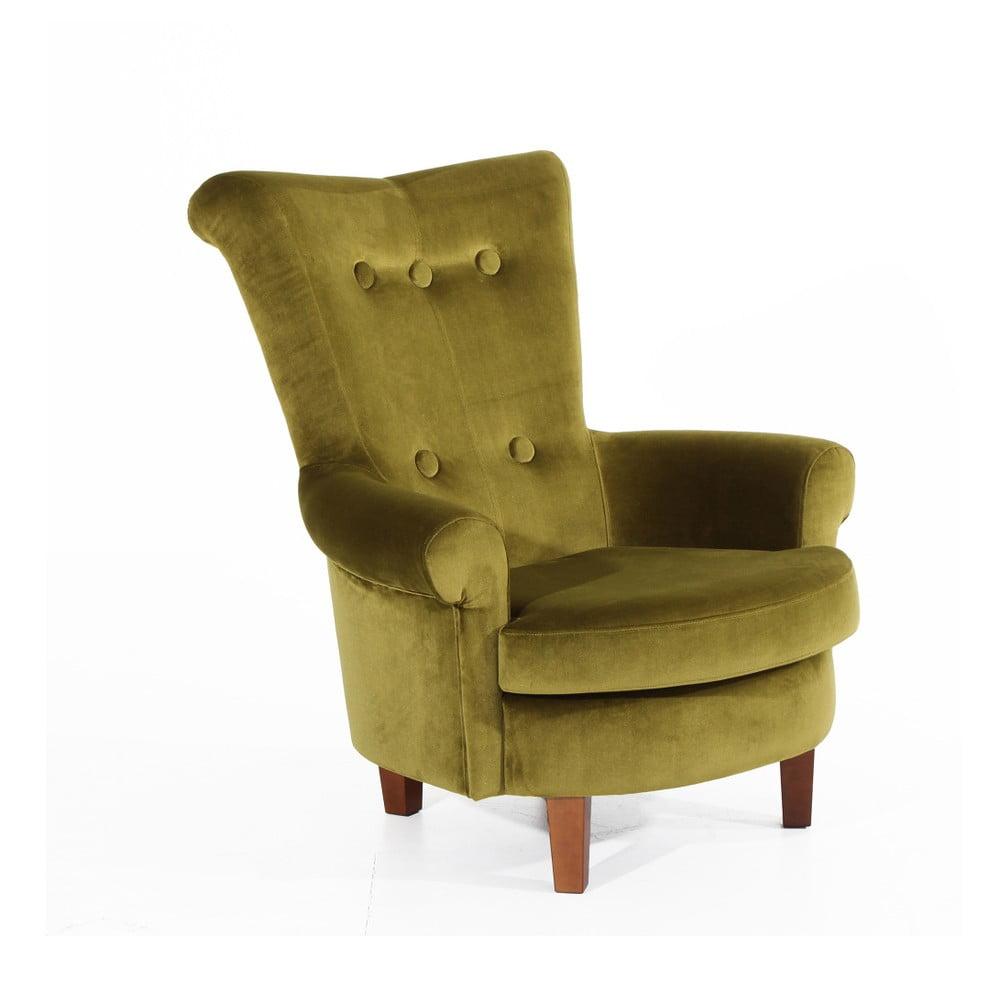 Zielony fotel Max Winzer Tilly