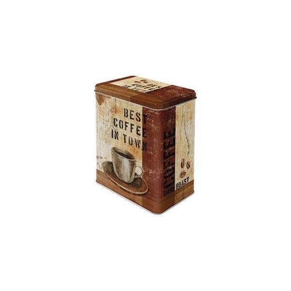 Pojemnik metalowy Best Coffee, 14x20 cm