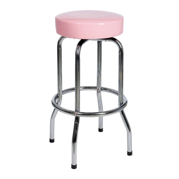 Stołek Bar Metal Pink, 47x47x75 cm