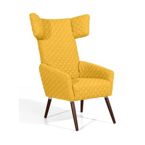 Żółty fotel Max Winzer Elina