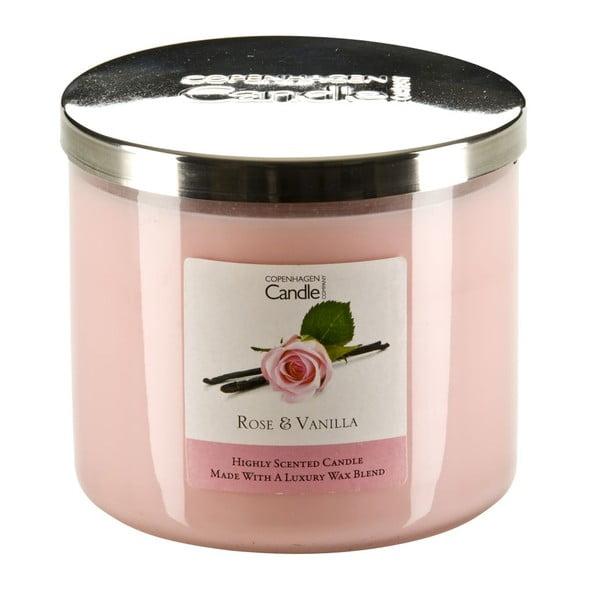 Świeczka zapachowa Rose & Vanilla, czas palenia 50 godzin