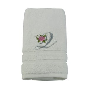 Ręcznik z inicjałem i różyczką Q, 50x90 cm