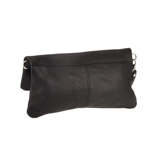 Skórzana torebka Castor, czarna