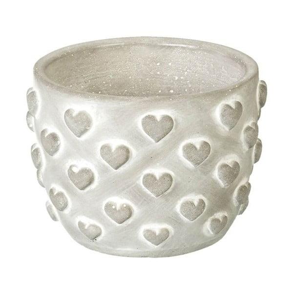 Doniczka Concrete Hearts, 9,5x13,5x13,5 cm