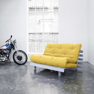 Sofa rozkładana Karup Roots Cool Gray/Amarillo