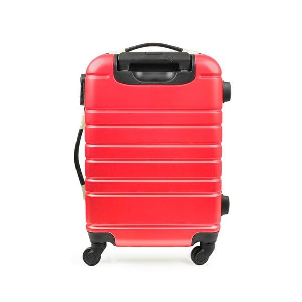 Zestaw walizki i tobry podręcznej Vanity Case, czerwone