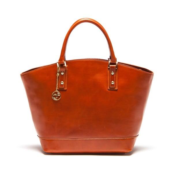 Skórzana torebka Carla Ferreri 351 Cognac