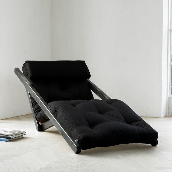 Szezlong Karup Figo, Wenge/Black, 70 cm