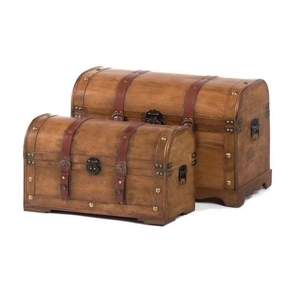 Zestaw 2 skrzyni Wooden Trunk