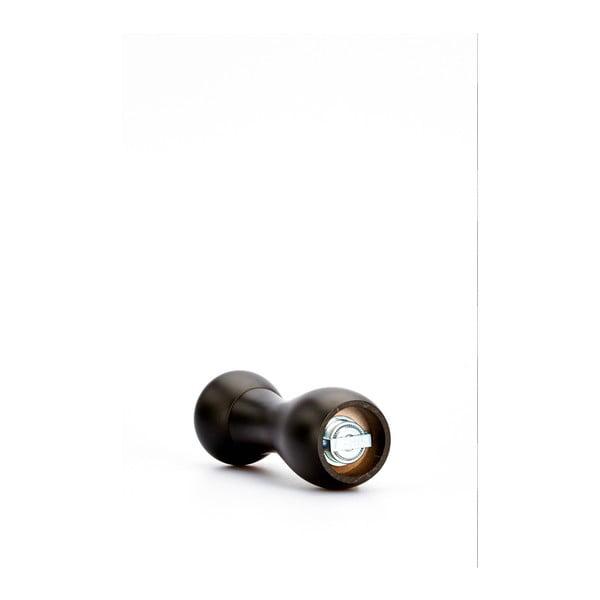 Czarny młynek do pieprzu z drewna bukowego Bisetti Beech, wys. 18 cm