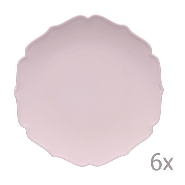 Zestaw 6 talerzy Glamour Rosa