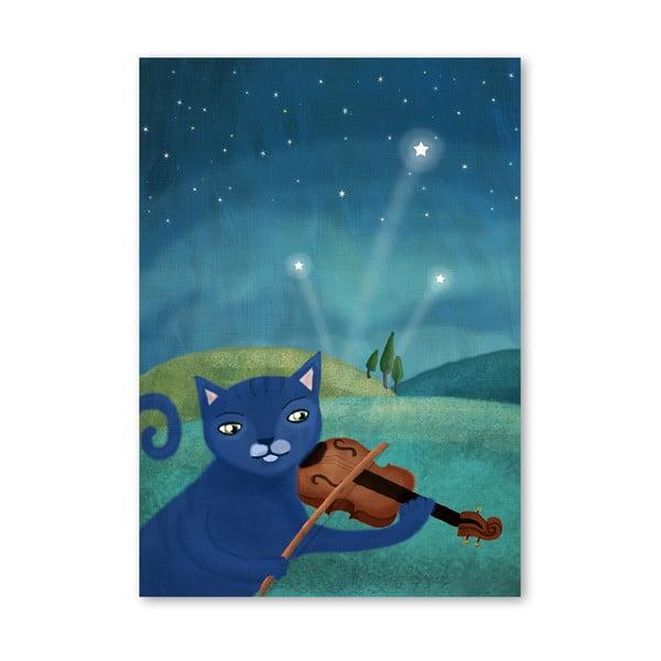 Plakat (projekt: Mia Charro) - Cat and Violin