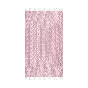 Różowy ręcznik hammam Kate Louise Bonita, 165x100cm