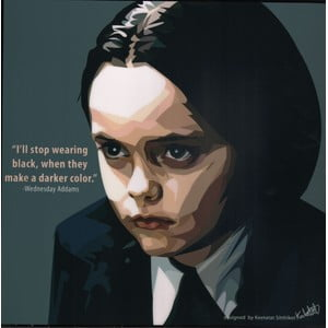 "Obraz ""Wednesday Addams - I'll stop wearing black, when they make a darker color"""