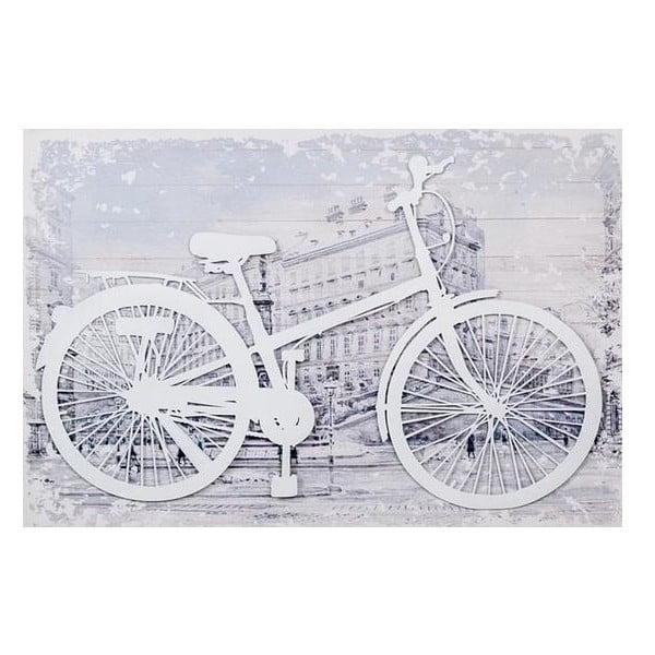 3D obrazek White Bike, 60x40 cm