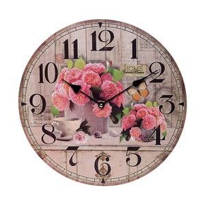 Zegar ścienny Pink Flowers