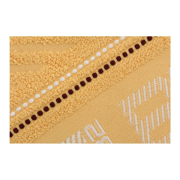 Ręcznik bawełniany BHPC 50x100 cm, pastelowy żółty