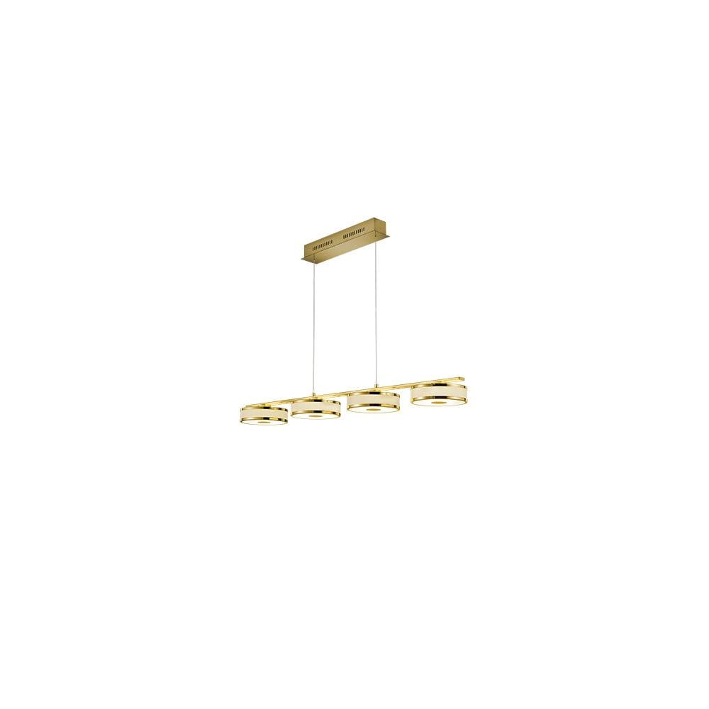 Lampa wisząca LED Trio Agento w złotym kolorze, dł. 1,15 m