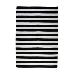 Dywan wełniany Geometry Stripes Black & White, 200x300 cm