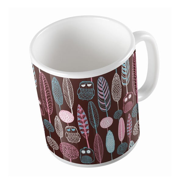 Kubek ceramiczny Forest with Owls, 330 ml