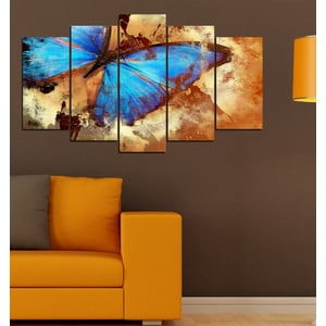 5-częściowy obraz Skrzydła motyla